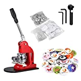 BEAMNOVA 2-1/4 Inch Button Badge Maker Machine Set 58mm with Circle Cutter (2-1/4 Inch Machine + 1000 Button Parts)
