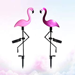 SIZOO - 2pc LED Solar Lawn Light Garden Lighting Outdoor Waterproof Ground Spotlight Flamingo Pattern
