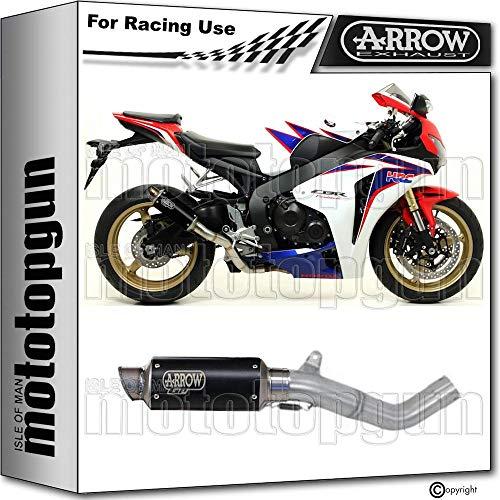 ARROW KIT TUBO DE ESCAPE RACE GP2 CON FONDO INOX EN INOX NEGRO COMPATIBLE CON HONDA CBR 1000 RR 2008 08 2009 09 2010 10 2011 11 71003GPI