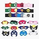 Topways® Máscaras de superhéroes Pulseras ninos, artículos de Fiesta Máscaras de superhéroes y Disfraces Cosplay Pulseras para niños de 3 años Disfraz Superheroes(12 Sets)