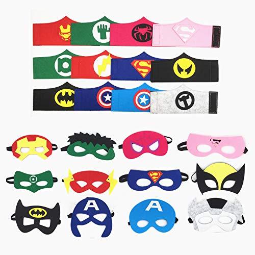 Topways Máscaras de superhéroes Pulseras ninos, artículos de Fiesta Máscaras de superhéroes y Disfraces Cosplay Pulseras para niños de 3 años Disfraz Superheroes(12 Sets)