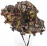 3D Blätter Camo Ghillie Hüte Outdoor Sonnenschutz Angeln Jagdkappe Breiter Krempe Flap Hut