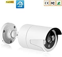 DCZ Full HD H.265 IP Camera,Metal Case IP67 Waterproof Home Security Camera System,onVIF 25M Night Vision P2P Video Survei...