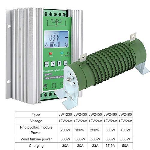 Solarladeregler MPPT Wind Solar Hybrid Controller Laderegler für Laderegelung Wind Solar Hybrid Laderegler mit LCD Display und externer Dump Load(JW2450)