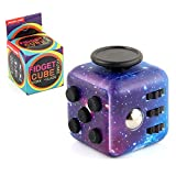 Canyoo Fidget Cube Stress Relief Reduce Anxiety Toys Adults Children Colorful Decompression Dice Eliminate Bad Habits Multi Function Easy Carry Killing Time Gift Birthdays Festivals (Starry Sky)