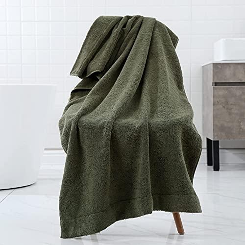 BBNBY Las Toallas de baño de algodón Puro para Adultos Aumentan Las Toallas de baño de Playa para Hombres y Mujeres, absorbentes Suaves y Gruesas (70 * 140 cm)