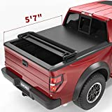 oEdRo Quad Fold Tonneau Cover Soft Four Fold Truck Bed Covers Compatible with 2009-2014 Ford F-150 F150 5.6' Bed, Styleside