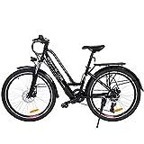ANCHEER Bicicleta Eléctrica de 26 Pulgadas Pedelec, Bicicleta Eléctrica City Bike 250W Motor 36V 8AH Batería de Litio