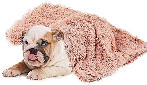 Mantas Largas de Felpa para Perros y Gatos para Dormir Profundamente, Suaves y Finas Cubiertas para el Uso de la Cama en Cualquier Época del Año (Color : Pink, Size : 75x100cm)