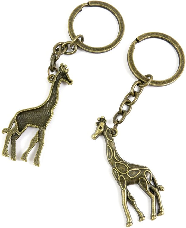 160 Pieces Fashion Jewelry Keyring Keychain Door Car Key Tag Ring Chain Supplier Supply Wholesale Bulk Lots M4XA7 Giraffe