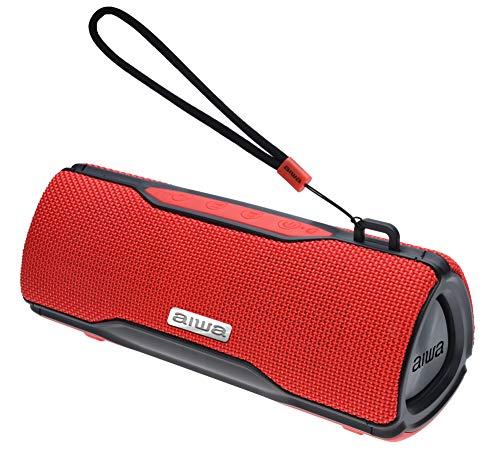 Aiwa Prism Leistungsstarker drahtloser Bluetooth-Lautsprecher (rot)