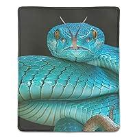 マウスパッド ゲーミング 高級感 おしゃれ 耐久性 滑り止めゴム 疲労低減 マウス パッド 180x220x3mm 毒蛇蛇爬虫類スネークピットブルー