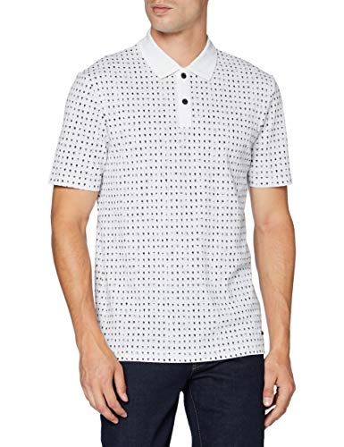 BOSS Mens Pepol Polo Shirt, White (100), M