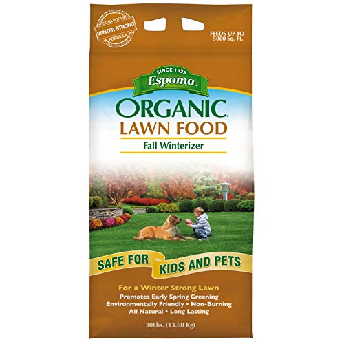 Read About Espoma EOFW30 30-Pound Organic Fall Winterizer Lawn Food 8-0-5