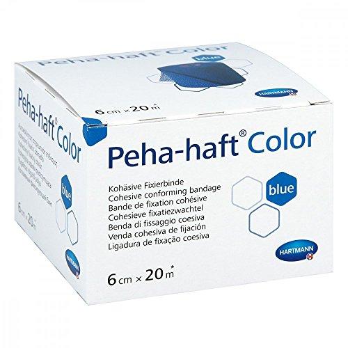 Hartmann 9324731, Peha-Haft Vendaje Compresivo Azul, 6 cm x 20 m