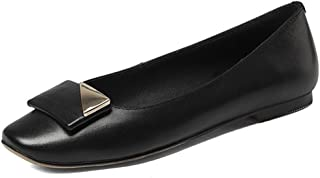 Nine Seven Women's Leather SquareToe Flatheel Flat
