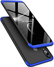 TheGiftKart Full Body 3 in 1 Slim Fit 360 Degree Protection Hard Bumper Back Case Cover for Samsung Galaxy M20 (Blue Black)