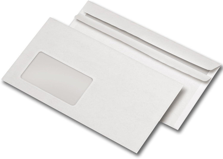 1000 Briefumschläge DIN LANG mit Fenster, selbstklebend (10, DIN lang mit Fenster) B00Y0MX5WO  