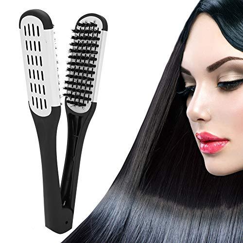 Peigne professionnel de lissage des cheveux, outil de coiffure de peigne de style de pince en forme de V