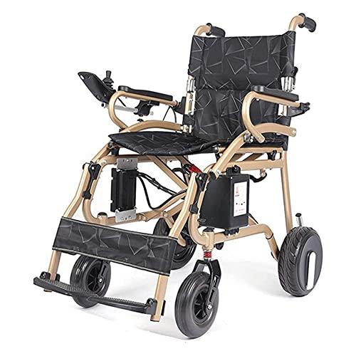 YIQIFEI Silla de Ruedas Portátil Plegable Eléctrico Ligero Aleación de Aluminio Motor sin escobillas Joystick de una Mano Motorizado (Silla)
