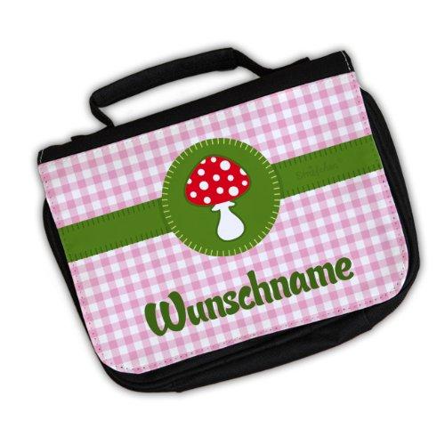 Striefchen Kinder Waschtasche - Glückspilz - Wunschname