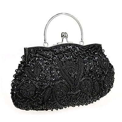 SNUG STAR Women's Evening Clutch Purse Two-sided Beaded Sequin Design Handbag