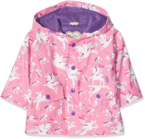 Hatley Baby-Mädchen Mini Printed Raincoats Regenmantel, Pink (Winged Unicorns), 92