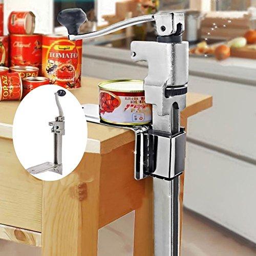GOTOTOP apriscatole professionale manuale, Apriscatole Heavy Duty Can Opener ,Apriscatole da banco, in Acciaio Inox, 47X 21CM