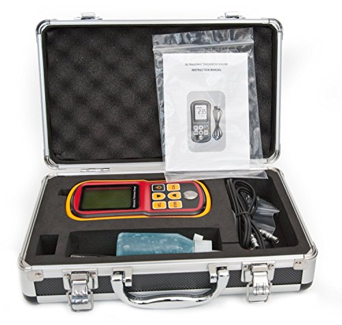 DecentGadget Ultrasonic Thickness Meter Tester Gauge Velocity 1.2~225mm Metal Wave// DecentGadget Ultraschall-Dickenmessgerät Tester Messgerät Velocity 1.2 ~ 225mm Metall-Welle