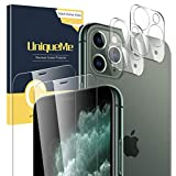 UniqueMe [2 Pack] Protector de Pantalla Compatible con iPhone 11 Pro [5.8 inch] [2 Pack] Protector de Lente de cámara para iPhone 11 Pro, Vidrio Templado [9H Dureza ] HD Film Cristal Templado