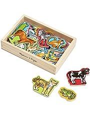 Melissa & Doug- Animales Magnéticos de Madera, Multicolor (10475)