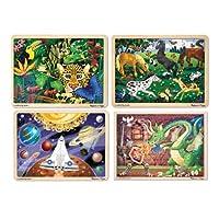 Becker's School Supplies Melissa & Doug Wooden Jigsaw Puzzles - Challenging Level (Set of 4) [並行輸入品]