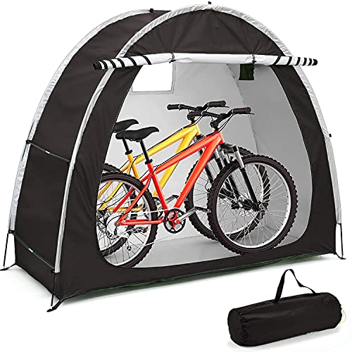 Carpa para Bicicletas, Cobertizo para Guardar Bicicletas con Bolsa De Transporte Cueva para Bicicletas Al Aire Libre Protección Resistente a La Intemperie para 2-3 Bicicletas
