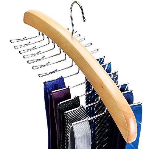 HOUSE DAY Tie Hangers Belt Rack Tie Rack for Closets 24 Tie Hangers for Closets Neck Tie Organizer