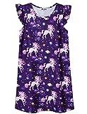 Star Unicorn Nightgown for Girls 7-16 Nightdress Summer Sleeveless Nighty