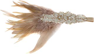 Song Qing Vintage Rhinestone Beaded Sequins 1920s Gatsby Party Headpiece Women Flapper Feather Headband