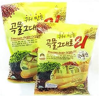 2 Packs Grain Crispy Roll, Cereal snacks 21 kinds crispy stuffed with cheese, 80 g. (8 sticks)