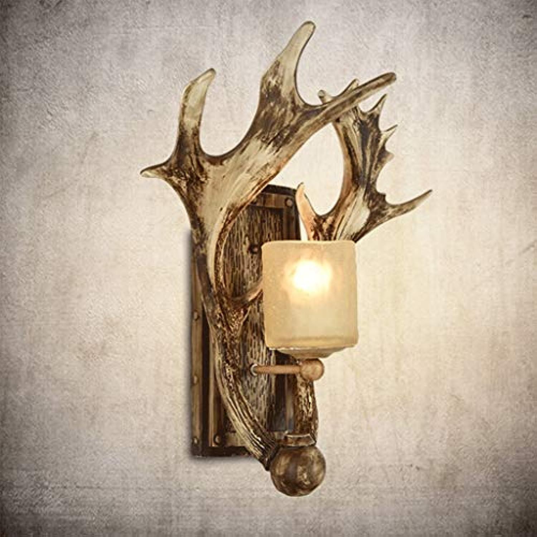 Sache Wandleuchten Retro Wandleuchte Wohnzimmer Geweih Lampe Gang Schlafzimmer Nachttischlampe Nordic Geweih Wand Lampe