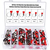 HSEAMALL 50 piezas Abrazadera de manguera tipo llave, Abrazaderas de manguera ajustables de acero inoxidable, abrazadera de tubo, abrazadera de engranaje helicoidal