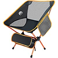 Ningbo LangMa Ultralight Folding Camping Chair with Pocket and Carry Bag (Orange)