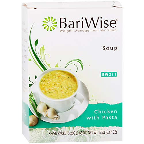 BariWise High Protein Low-Carb Diet Soup Mix - Low Calorie Chicken with Pasta (7 Count)…