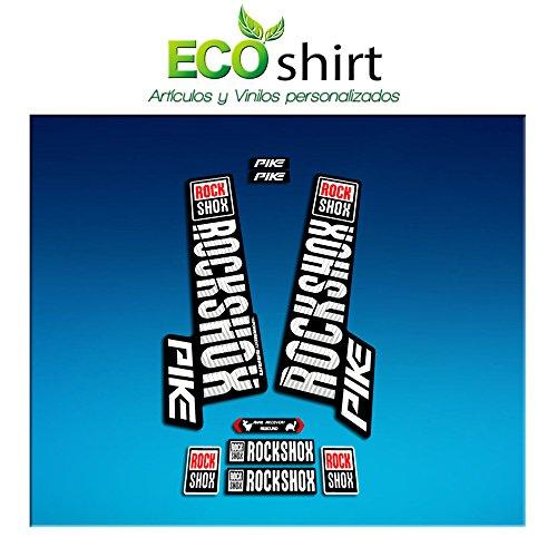 Ecoshirt MR-T1DE-2WPA Adesivi Stickers Forcella Rock Shox Pike 2018 Am129 Fork Aufkleber Decals MTB