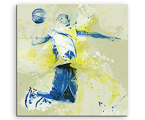 Paul Sinus Art Basketball IV 60x60cm SPORTBILDER Splash Art Wandbild Aquarell Art