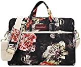 Canvaslove Big Red Chrysanthemum 13 inch Waterproof Laptop Shoulder Messenger Bag Case with Rebound Bubble Protection For MacBook 12',iPad Pro 12.9',MacBook Pro/Air 13,Surface Pro 12.3'/13.5' Laptop