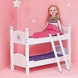 Etagenbett Puppenbett aus Holz Puppenzubehör Puppen-Möbel Olivias World TD-0095A -