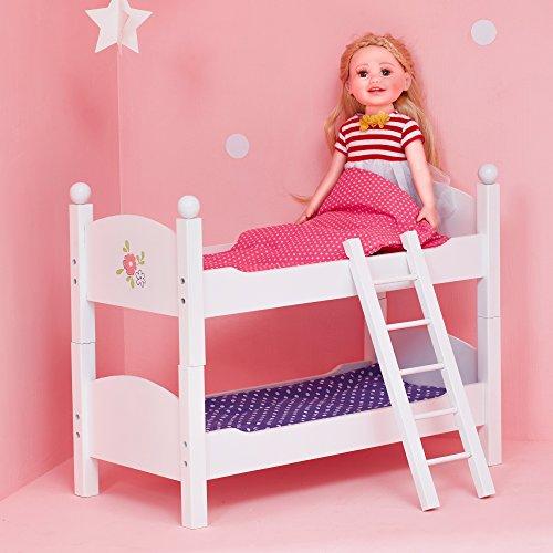 Litera de madera de juguete para muñecas de 45,7 cm de OliviasWorld TD-0095A , Modelos/colores Surtidos, 1 Unidad