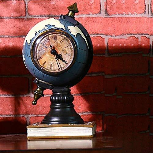 Wyxy Reloj De Escritorio, Reloj De Escritorio Retro Clásico, Reloj Despertador De Escritorio Antiguo Y Silencioso, con Pilas, Lente De Vidrio De Alta Definición, El Reloj