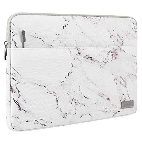 """MoKo 13-13.3"""" Sac de Protection pour MacBook Air 13"""", MacBook Pro 13"""", iPad Pro 12.9 2021, Housse Pochette, Sac Imperméable en Polyester avec Deux Poches pour 13-13.3 Pouces Tablette - Marbre"""