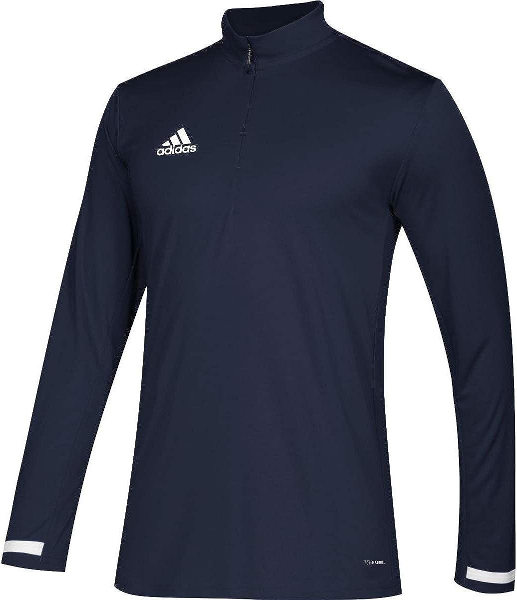 Amazon.com: adidas Male Team 19 1/4 Zip Long Sleeve Jersey ...