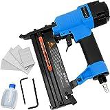 Monzana Grapadora clavadora de aire comprimido 2en1 con clavos 15-50mm grapas 13-40mm Conexión...